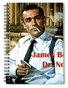 007, James Bond, Sean Connery, Dr No Spiral Notebook