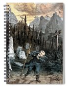 Grant Cartoon, 1880 Spiral Notebook