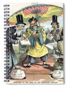 Missionary Cartoon, 1895 Spiral Notebook