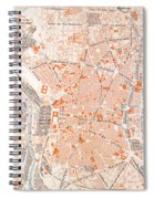 Spain: Madrid Map, C1920 Spiral Notebook