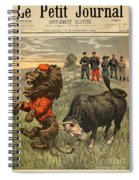 Boer War Cartoon, 1899 Spiral Notebook