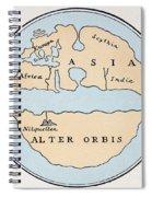 World Map, 1st Century Spiral Notebook