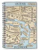 World Map 2nd Century Spiral Notebook