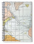 Map: Atlantic Voyages Spiral Notebook