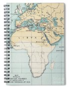 Map: Phoenician Empire Spiral Notebook