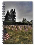 01 Flags For Fallen Soldiers Of Sep 11 Spiral Notebook