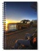 01 Me Sunset 16mar16 Spiral Notebook