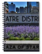 01 Plaza Of Stars Buffalo Theatre District Spiral Notebook
