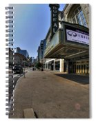 01 Walking Past Sheas Buffalo Ny Spiral Notebook