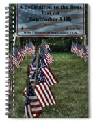 010 Flags For Fallen Soldiers Of Sep 11 Spiral Notebook