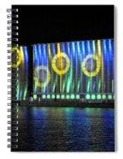 011 Grain Elevators Light Show 2015 Spiral Notebook