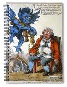 Cartoon: John Bull, C1814 Spiral Notebook