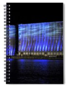 013 Grain Elevators Light Show 2015 Spiral Notebook