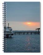 0204 Faint Sunrise On Sound Spiral Notebook
