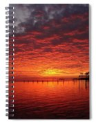 0205 Awesome Sunset Colors On Santa Rosa Sound Spiral Notebook