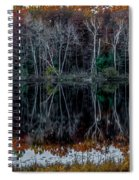 02l Reflections At  Gowen Michigan Spiral Notebook