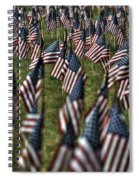 03 Flags For Fallen Soldiers Of Sep 11 Spiral Notebook