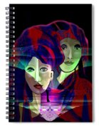 036 Two Faces Of  Night A V Spiral Notebook
