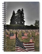 05 Flags For Fallen Soldiers Of Sep 11 Spiral Notebook