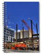 05 Medical Building Construction On Main Street Spiral Notebook