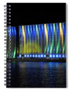 06 Grain Elevators Light Show 2015 Spiral Notebook