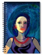 066 Woman With Red Necklace Av Spiral Notebook