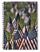 07 Flags For Fallen Soldiers Of Sep 11 Spiral Notebook