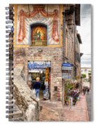 0755 Assisi Italy Spiral Notebook