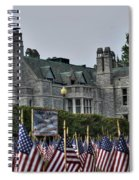 08 Flags For Fallen Soldiers Of Sep 11 Spiral Notebook