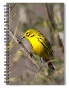 0839 -yellow Warbler Spiral Notebook