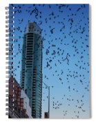 1.5 Million Mexican Free-tail Bats Overtake The Austin Skyline As They Exit The Congress Avenue Bridge Spiral Notebook