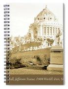 1904 Worlds Fair, Festival Hall, Jefferson Statue Spiral Notebook