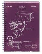 1936 Toilet Bowl Patent Chalk Spiral Notebook