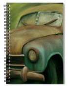1950's Vintage Borgward Hansa Sports Coupe Car Spiral Notebook