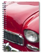 1955 Chevrolet Bel Air Hood Ornament Spiral Notebook