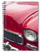 1955 Chevrolet Bel Air Hood Ornament Spiral Notebook