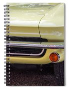 1965 Yellow Sting Ray Front Bumper Spiral Notebook