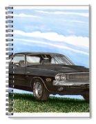1970 Dodge Challenger Spiral Notebook
