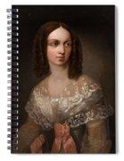 19th Century Russian Artist Portrait Of Countess Aleksandra Vladimirovna Musina-pushkina, 1853 Spiral Notebook