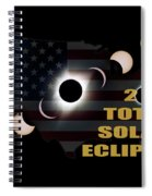 2017 Total Solar Eclipse Across America Spiral Notebook