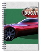 2025 Bugatti Aerolithe Concept With 3 D Badge  Spiral Notebook