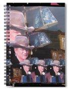 21 Dukes John Wayne Cardboard Cutout Collage Tombstone Arizona 2004-2009 Spiral Notebook