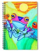 3 Little Frogs Spiral Notebook