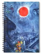 4dpictdswq Marc Chagall Spiral Notebook