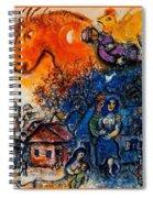 4dpictfdrew3 Marc Chagall Spiral Notebook