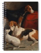 A Couple Of Foxhounds With A Terrier - The Property Of Lord Henry Bentinck  Spiral Notebook