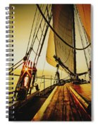 A Day On The Lake Spiral Notebook