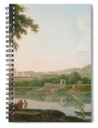 A Distant View Of Rome Across The Tiber Spiral Notebook