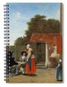 A Dutch Courtyard Spiral Notebook