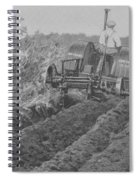 A Farmer Driving A Tractor Spiral Notebook